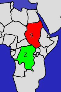 Zaire und Sudan