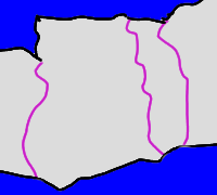 Atlantis mit vier weiteren Länder