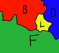 Luxemburg zwischen Belgien, Deutschland und Frankreich
